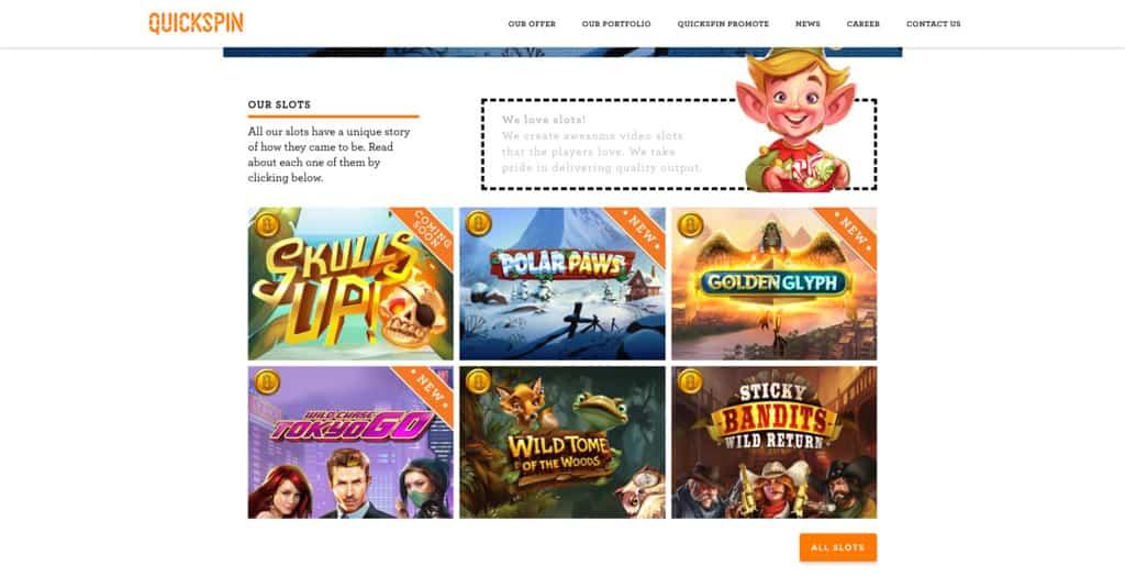 Quickspin website December